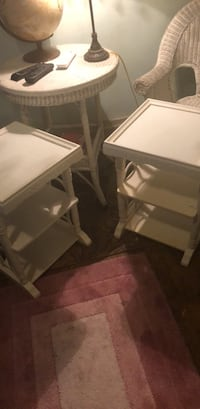 Two white wooden side tables Grand Rapids, 49507