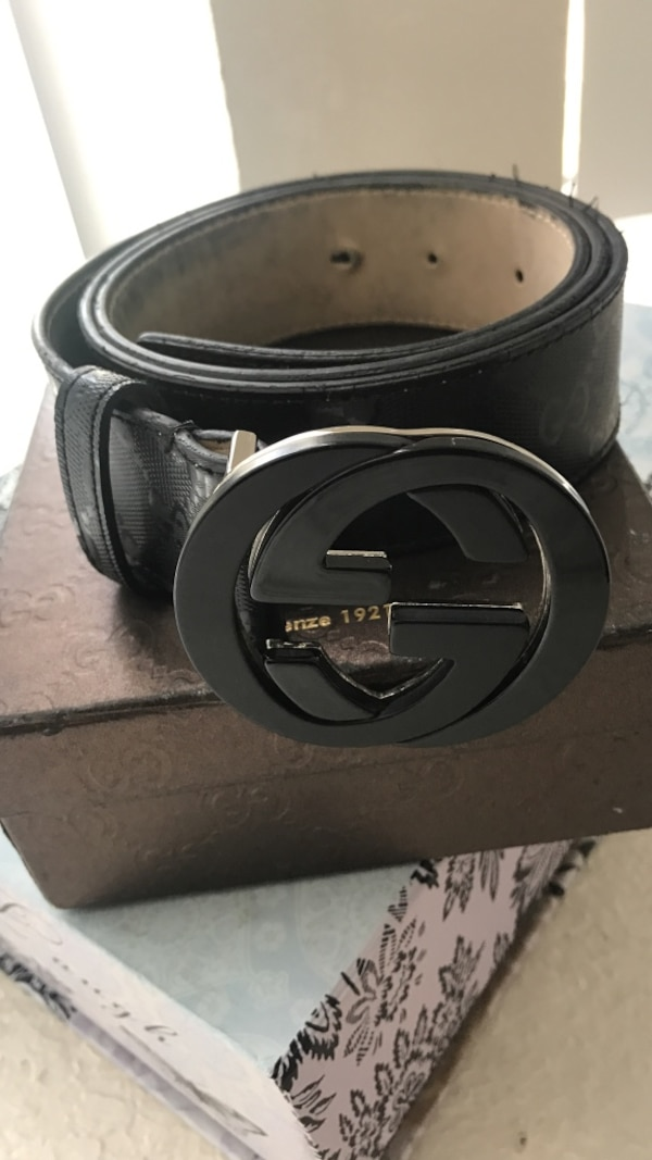 442e9094681 Used Authentic Black Gucci Belt 90-36 fits 30-34 waist for sale in  Tallahassee - letgo