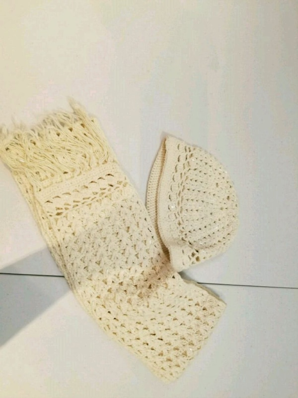 pair of brown knitted shoes