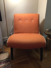 Safavieh Alice Linen Orange Accent Chair New York