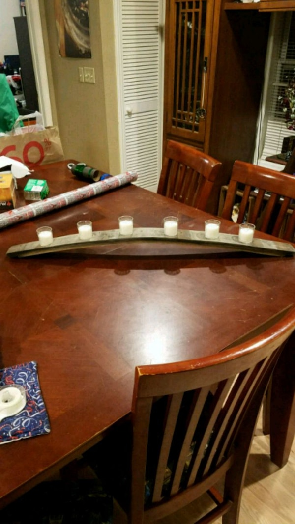 Used Whiskey Barrel Stave Candle Holder For Sale In Woodlawn Letgo