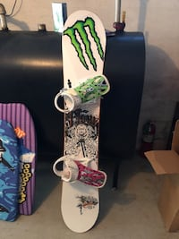 Flow snowboard and Burton snow boots  Laconia