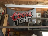 Replica COORS light NASCAR hood. Perfect condition