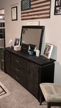 Black and Gunmetal Grey Dresser READ DESCRIPTION before inquiring  Macomb, 48042