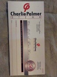 Charlie Palmer steakhouse gift certificates(6 total) Germantown, 20876