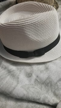 White straw hat new real thick style