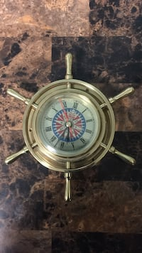 brown ship wheel compass New York, 10024