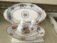 Royal albert ,petit point salt and pepper with 2 trays   Vaughan, L4H 3J8