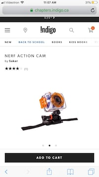 Nerf action underwater camera  Laval, H7E 5L2