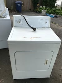 white front-load clothes dryer Falls Church, 22042
