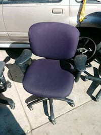 purple and black rolling armchair Compton, 90222