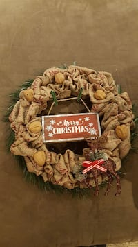 round brown Christmas wreath