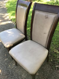 two gray leather padded chairs Beaumont, 77703