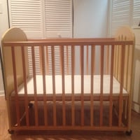 Baby two year crib. Great for visiting babies or small enough to keep baby with parents room  621 mi