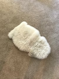 White sheep skin rug, IKEA, small