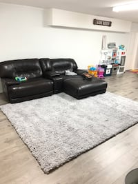 Brown leather reclining couch Surrey, V4P 1P5