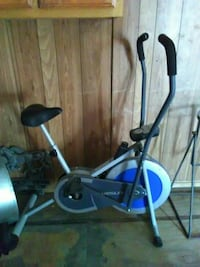 gray and blue Weslo elliptical trainer