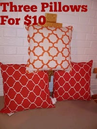Three Orange and White Pillows For $10 Norfolk, 23503