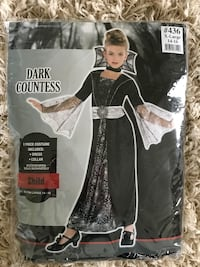 HALLOWEEN COSTUME. Child size 14-16. Comes with dress and collar. Only worn once!! Potomac, 20854