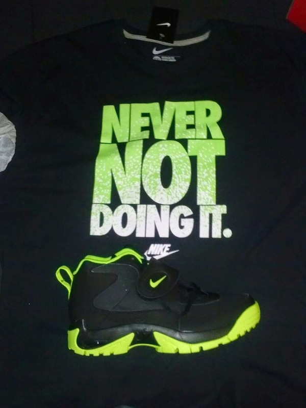 c3060e91174 Used size11 never not doing it print black and green for sale in Morrow -  letgo