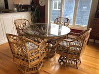 Vintage bamboo dining table and chairs Virginia Beach, 23455