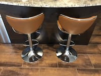 Two brown bar stools 39 km
