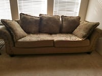 brown and gray floral 2-seat sofa McKinney, 75070