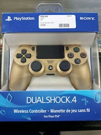 gold PlayStation 4 wireless