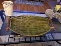 """Chic wicker basket, 24"""" by 14"""" (color is green)"""