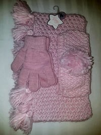 Girls 3pc Set, Infinity scarf, headhand, and glove Lexington