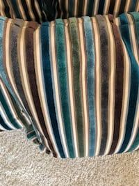 4 pier 1 cool velvet striped pillows  Haymarket, 20169