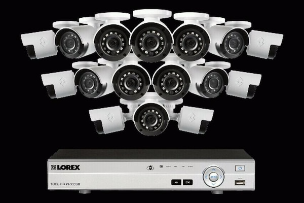 white and black security camera set 8f1e99d6-f117-4972-a78d-c7310c7cfc3d