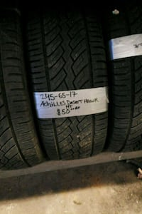 245 65 17 only 3 50 each tires 290 mi