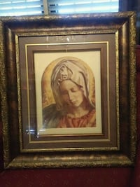 brown wooden framed painting of woman Laredo, 78041