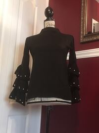 Ladies sweater with pearls size small