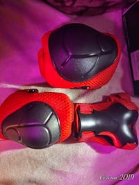 Knee elbow guards for kids red and black Detroit, 48219