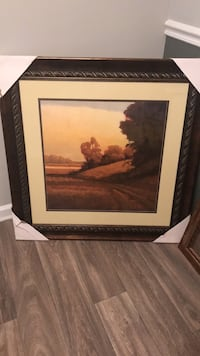 brown wooden framed painting of brown wooden house Stockbridge, 30281