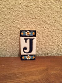 Ornamental tile letter J Berlin, 12055