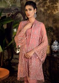 Embroidered Chiffon Unstitched 3 Piece Suit IZ18WE 02 - Wedding Collection Maryland
