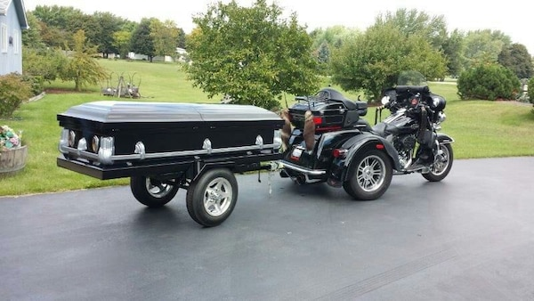 Used Custom Made Coffin Motorcycle Trailer For Sale In Spring Grove