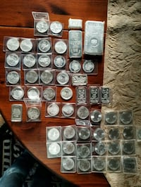 All .999 silver from top name mints.  Muncie