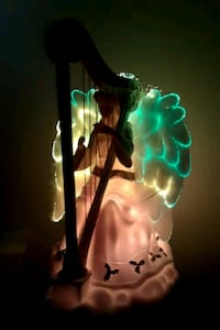 Ceremic fiber optic Angel figurine Redding, 96002