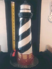 "Cape Hatteras Ceramic 18"" Decorative Lighthouse"