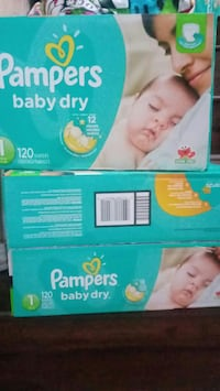 two Pampers baby dry boxes $20 each