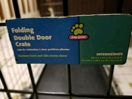 Barely used large dog crate