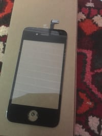Glass Iphone 4 4S vitt og svart Sandnes, 4308