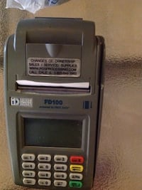 Credit card machine comes with couple roles of paper Good Hope, 30641
