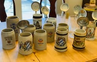 15 German beer bier steins mugs 27 km