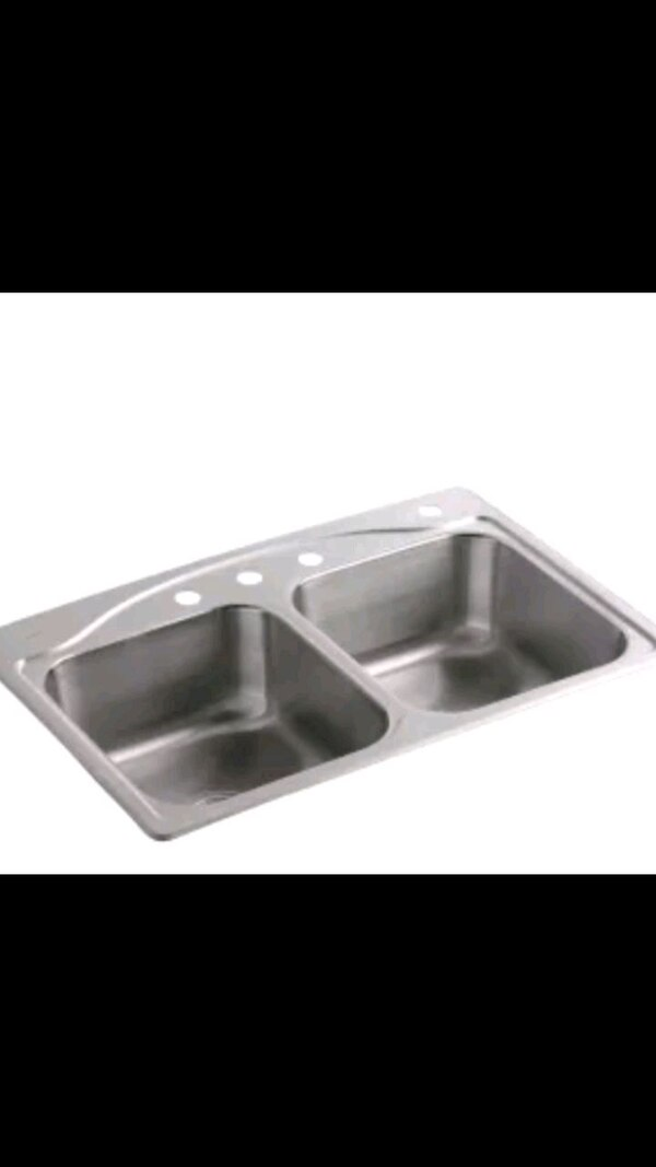 Used Stainless Steel Double Kitchen Sink For Sale In Douglasville