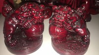 2 really cool vintage red resin fu dogs Calgary, T2Y